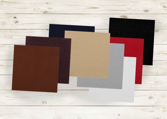 Picture of All Via Leather memo samples.