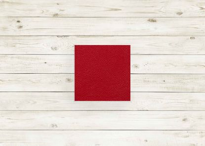 Picture of Cardinal leather #248 square, grade 8.