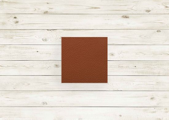 Picture of Chestnut leather #228 square, grade 8.