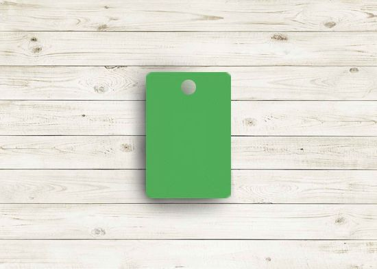Picture of Zee green poly chip. #06Z