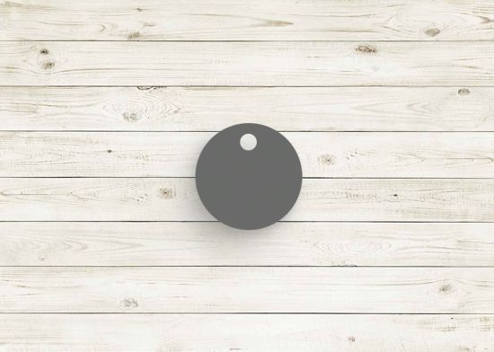 Picture of Dark Grey poly chip. #08