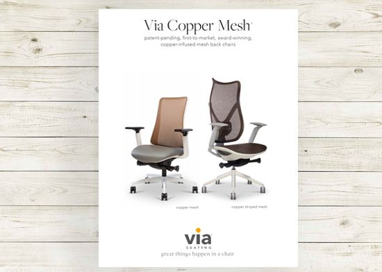 Picture of Copper mesh collection brochure.