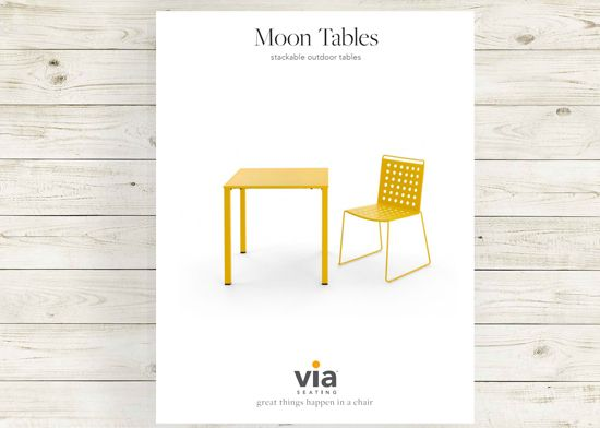 Picture of Moon Tables brochure.